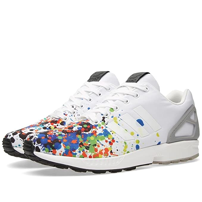721e1f3e42e31 adidas originals ZX Flux men s white paint splatter running sports  trainers  Amazon.co.uk  Sports   Outdoors