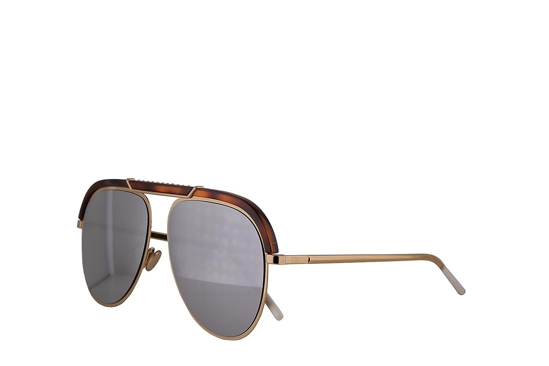 b66bab8915 Amazon.com  Christian Dior DiorDesertic Sunglasses Havana Gold w Grey  Silver Mirror Lens 58mm 2IK0T Dior Desertic  Clothing