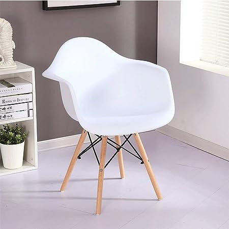 Qinmo Blanc Médiéval Moderne En Plastique Chaise de Salle À ...