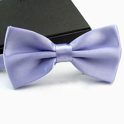 FAHFO Corbatas Pajarita Hombre Color Sólido Matrimonio Pajaritas ...