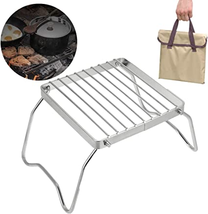 Barbecue En Acier Inoxydable Barbecue Portable Camping Barbecue Grill Pliable Compact Camping Grill pour Camping Randonn/ée Pique-nique OurLeeme Barbecue Grilles
