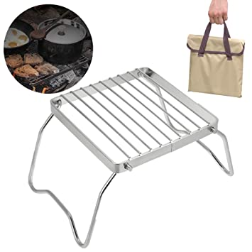 Parrilla de Barbacoa Plegable para Camping Picnic: Amazon.es ...