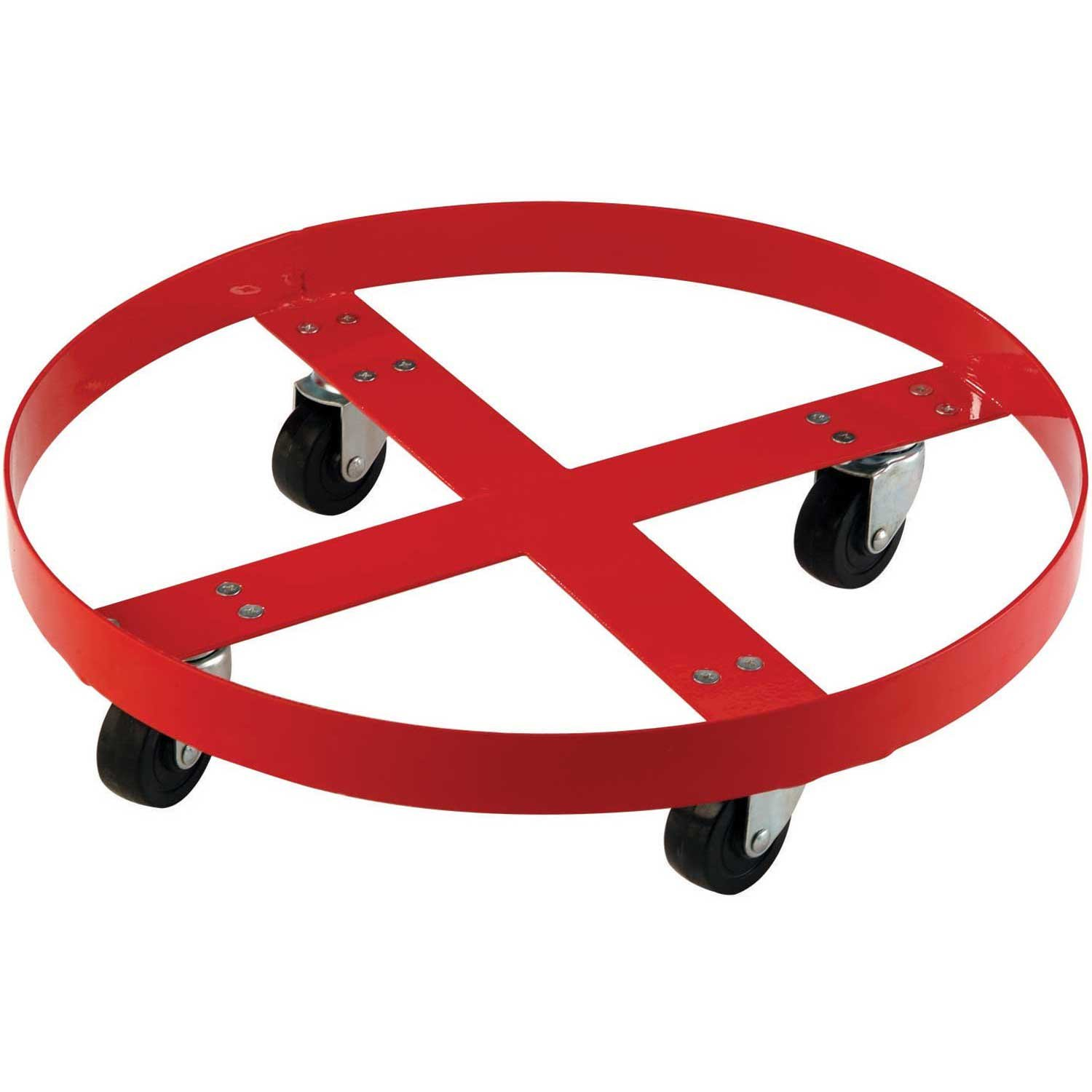 1000 Lb. Capacity Drum Dolly for 55 Gallon Drum - Steel Wheels