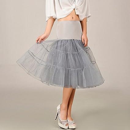 Falda de tul para boda de 10 colores plateado plata M: Amazon.es ...
