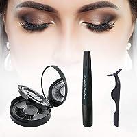 Magnetic Eyeliner, Magnetic Wimpern Set, Falschen Wimpern Magnetic Eyeliner Zur Verwendung Mit Magnetischen Falschen Wimpern (Schwarz)