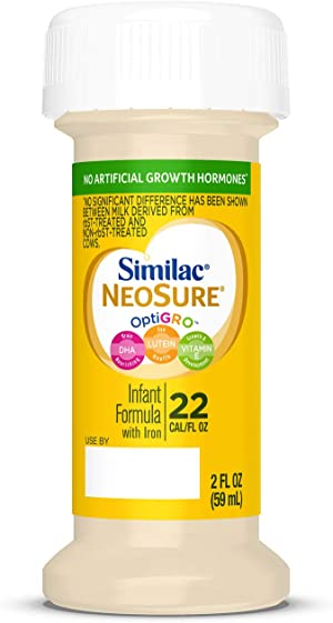 Similac NeoSure Infant Formula with Iron, for Babies Born Prematurely, Ready-to-Feed Bottles, 2 fl oz Bottles, 48 Count