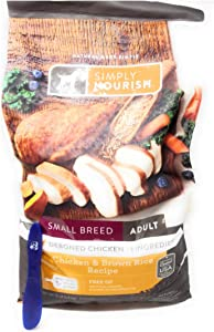 Simply Nourish Small Breed Adult Dry Dog Food Chicken & Brown Rice, 15lbs and Especiales Cosas Mixing Spatula