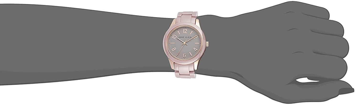 Amazon.com: Anne Klein Womens AK/1962RGTP Rose Gold-Tone Watch with Ceramic Link Bracelet: Watches