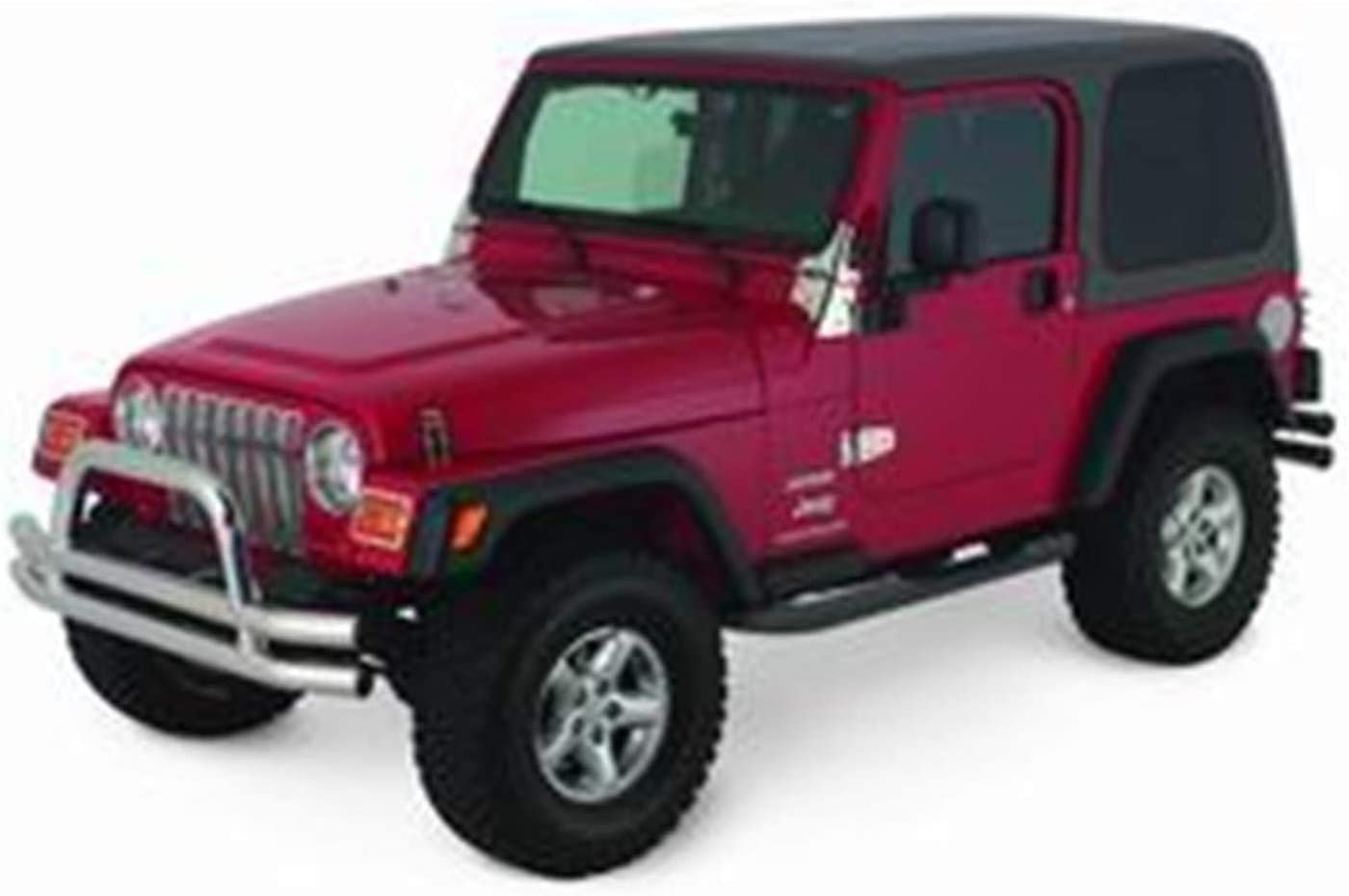 "Sure-Steps 3/"" Texture Black Side Step Nerf Bars Fit Jeep 76-86 CJ7 Smittybilt"