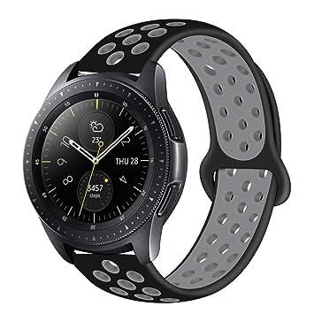 MroTech Correa Gear Sport 20mm Banda liberación rápida Pulsera de Silicona Compatible para Samsung Gear S2 Classic, Galaxy Watch 42mm, Amazfit Bip, ...