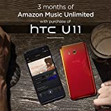 HTC U11 with hands-free Amazon Alexa – Factory Unlocked – Amazing Silver