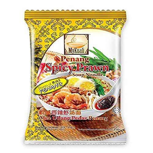 MyKuali Penang Noodles Soup (Spicy Prawn, 8 Pack) - Prawn Noodle