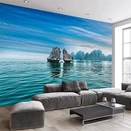 Wallpaper 3D Wall Mural Large Custom Photo Blue Sky Ocean Reef Scenery