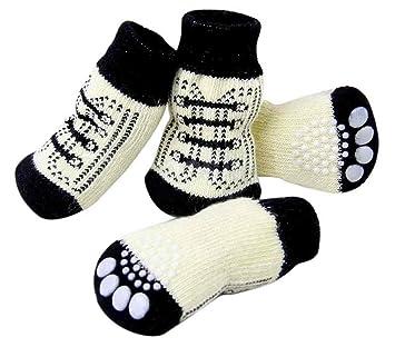 Samgu Perro Calcetines Antideslizantes para Mascotas Gato Perrito Doméstico Animal: Amazon.es: Deportes y aire libre