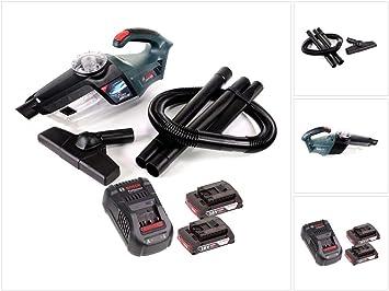 Bosch Gas 18 V de 1 Professional batería de ion de litio para aspiradora aspirador de mano + 2 x GBA 2,0 Ah Batería + Gal 1880 CV Cargador: Amazon.es: Bricolaje y herramientas