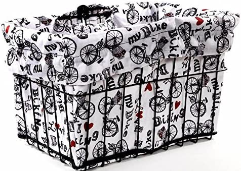 Cruiser Candy Reversible Bike Basket Liner I Love My Bike