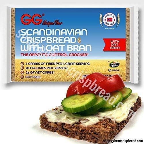 - GG Scandinavian Fiber Crispbread with Oat Bran - 10 Pack (3.5 ounce-100 gram) - The Appetite Control Cracker