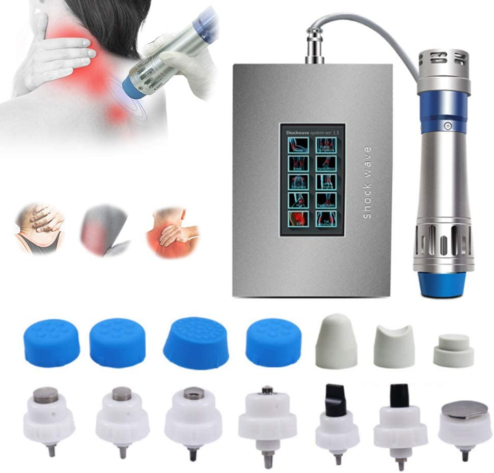 JINGBO Extracorporeal Shockwave Therapy Machine for ED, Professional Muscle Pain Relief Massager with 7 Massage Head for Body Relax Pain Relief Erectile Dysfunction/ED Treatment