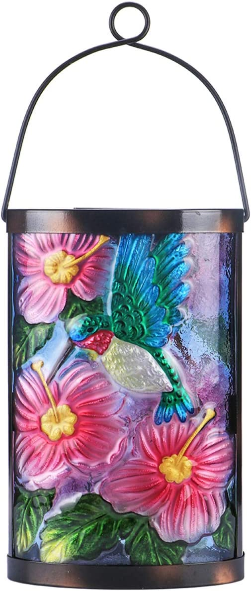 Hanging Solar Lantern Outdoor Decorative Waterproof LED Solar Bird Lights Tabletop Lamp for Outdoor Patio Garden