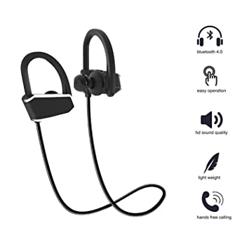 hangang Auriculares Bluetooth Headset Bluetooth Headphones Wireless Auriculares Bluetooth Wireless Sport auriculares IPX7 Auriculares estéreo HD Sweatproof ...