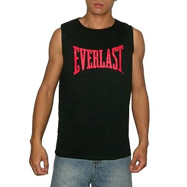 677b511ece1750 EVERLAST Mens Athletic Crew Neck Sleeveless Sweatshirt   Vest - Black (Size   XL)