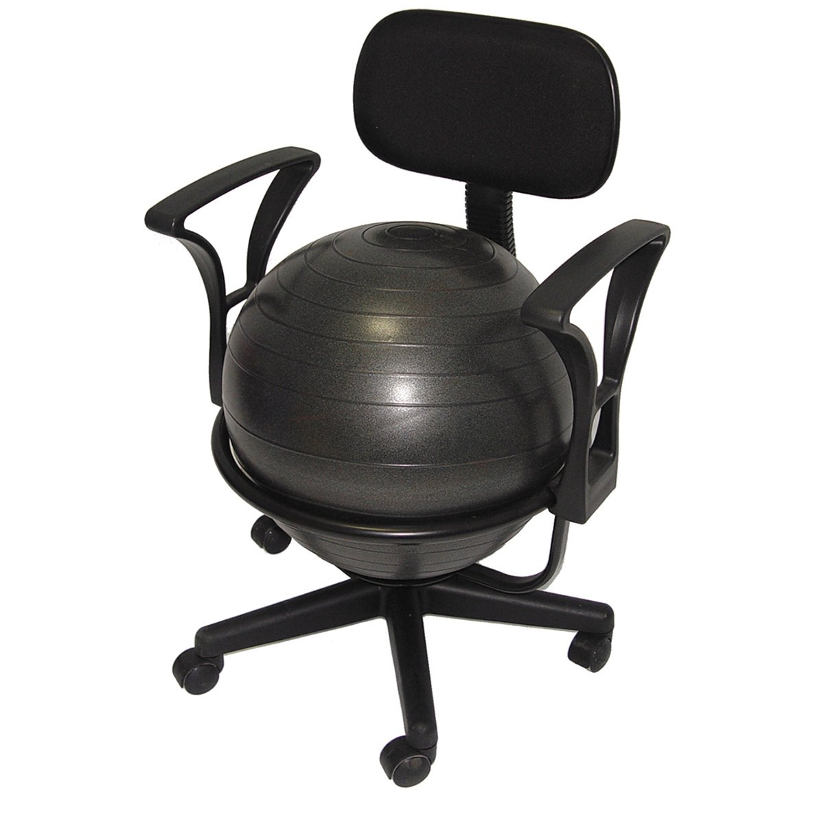 Deluxe Fitness Ball Chair inブラック   B000T9EHU6