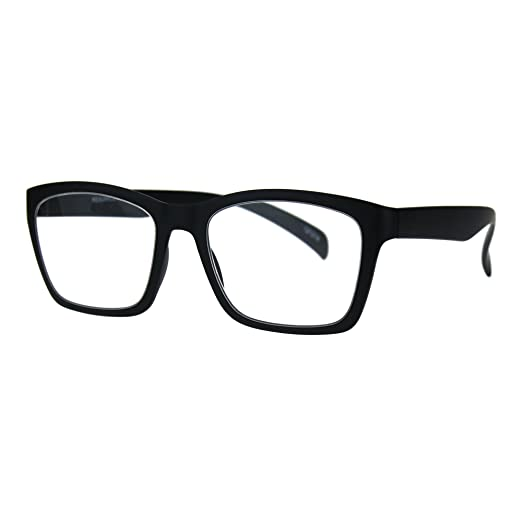 1fa8febd8a Reading Glasses Flexible Rectangular Matted Frame Magnified Readers Black +1