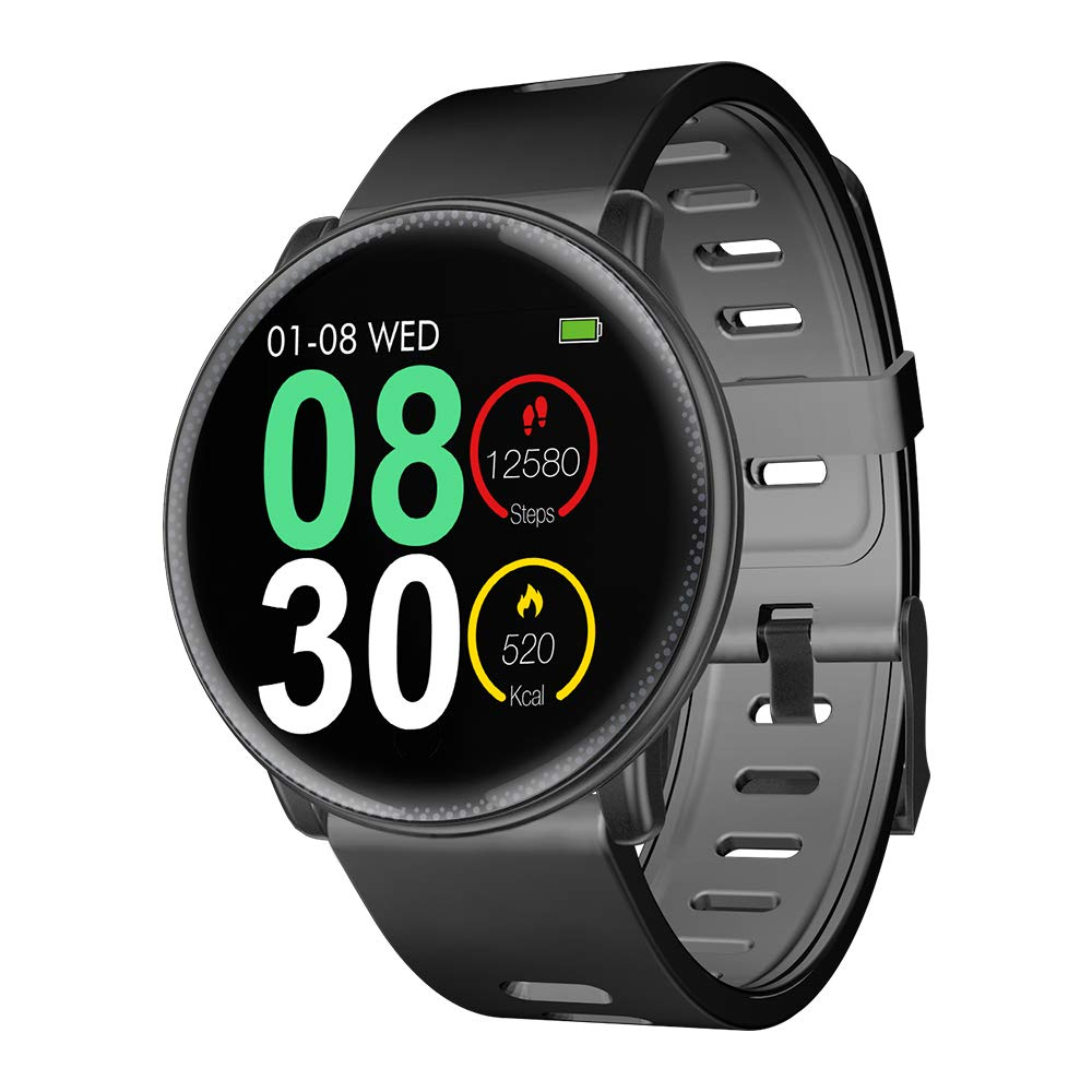 Smart Watch, UMIDIGI Uwatch2 Bluetooth Smartwatch for Men Women Kids Compatible Android iOS, Ip67 Waterproof, Fitness Activity Tracker with Heart Rate Monitor(2 Bands)