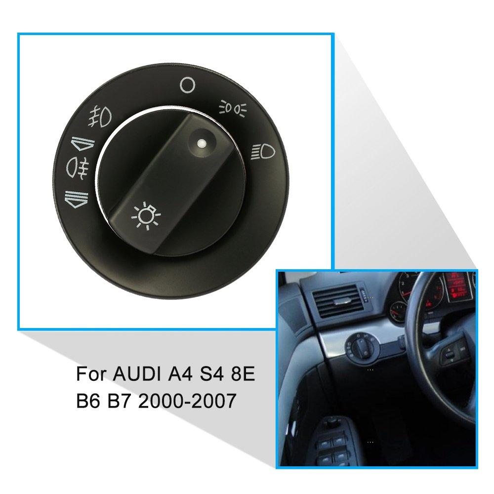 KKmoon Coperchio Switch Kit di riparazione del faro dell'automobile della luce di nebbia per AUDI A4 S4 8E B6 B7 2000-2007