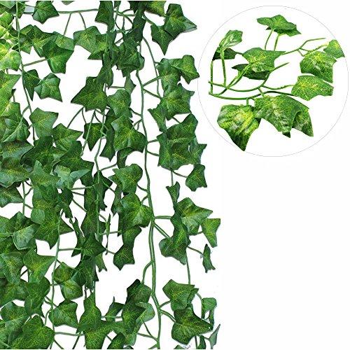 Artificial Ivy Fake Foliage Leaf Flowers Plants Garland Garden Decoration 2M - 8