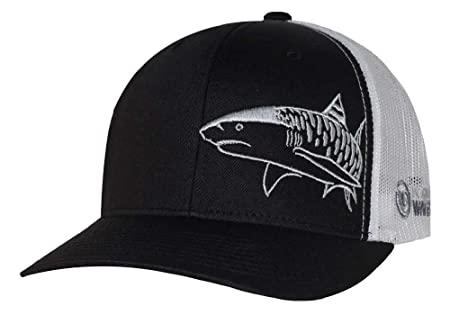 shark fin baseball hat amazon tiger scuba diving trucker cap born water apparel dive spearfishing black sports outdoors paul and