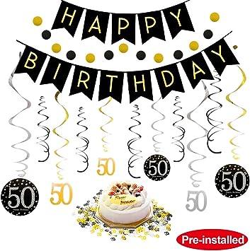 Prime 50Th Birthday Decorations Kit For Men Women 50 Years Old Party Funny Birthday Cards Online Benoljebrpdamsfinfo