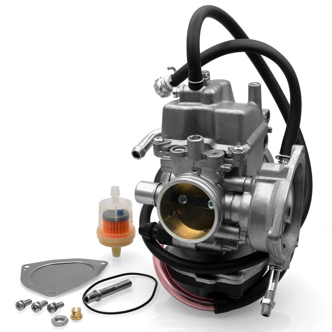 f146553722500 Radracing LTZ400 ATV Carburetor Carb Replacement Kit for Suzuki LTZ 400  2003-2007 Kawasaki KFX 400 2003-2006 Arctic Cat DVX400 2004-2007 Yamaha  Raptor 350 ...