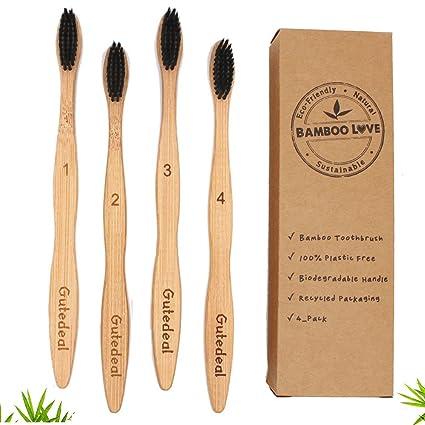 Cepillos de dientes manuales de bambú Biodegradable, respetuosos del medio ambiente, suaves cerdas de