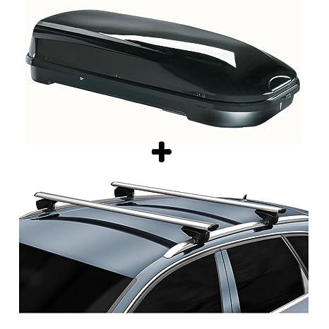 vdp Techo Caja fl580 + Aluminio Reling Portaequipaje Opel Astra Sport stourer a Partir de 04