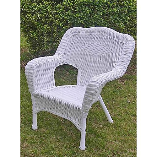 international caravan 3180 2ch wt ic furniture piece camelback resin wicker patio chairs set of 2 - White Wicker Chair