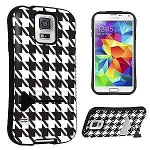 DuroCase ? Samsung Galaxy S5 Kickstand Case - (Black Houndstooth)