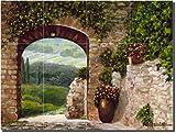 ''Tuscan Arch'' by Angelica Di Chiara-Hardin - Artwork On Tile Ceramic Mural 12.75'' x 17'' Kitchen Shower Backsplash