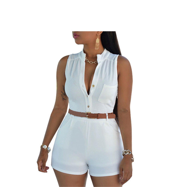 Ygosoon jumpsuits S-XXL Bodysuit JU5198 White XL