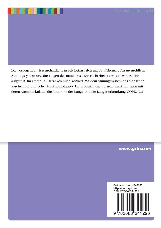 Das Menschliche Atmungsystem (German Edition): Anonym: 9783668341296 ...