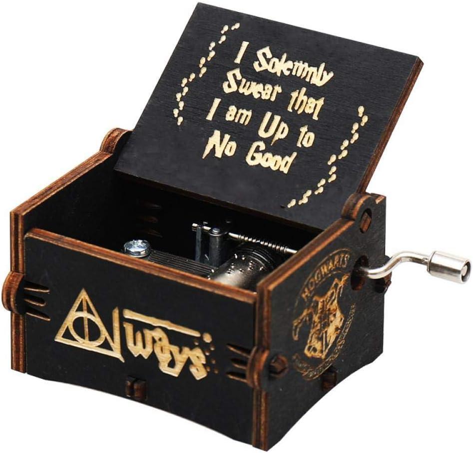 Caja de música FGHFG de Harry Potter caja musical de madera en miniatura, movimiento de manivela a mano, juguete de decoración para el hogar: Amazon.es: Hogar