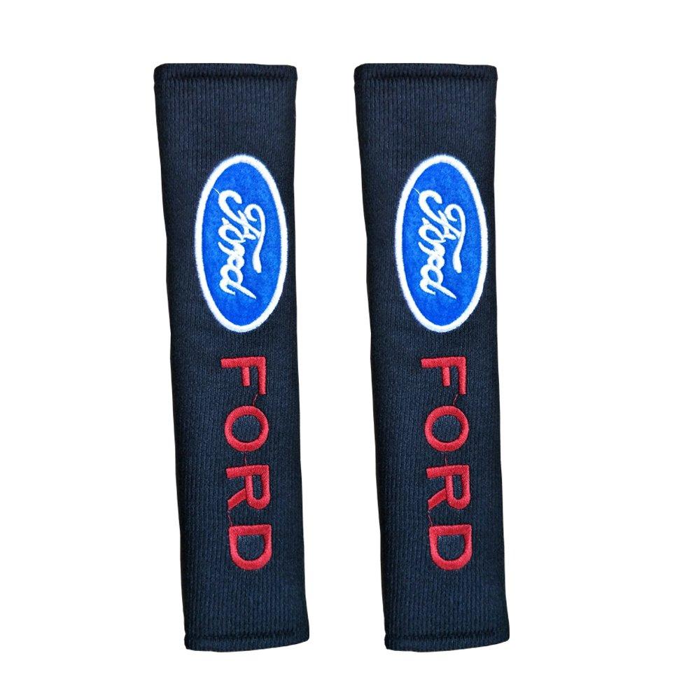 2pcs Protectores de hombro para cintur/ón almohadillas de cintur/ón de seguridad Ford Logo