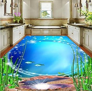 Malilove 3D-Bodenbelag Badezimmer Exquisite Ocean World 3D Boden ...