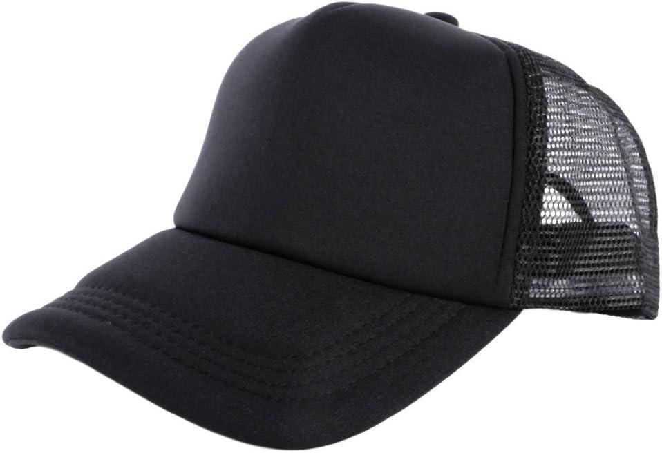 amazmall Unisex Mesh Baseball Cap Solides Trucker blanko gebogen Visier Hat verstellbar Hat