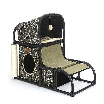 Cama de perro mascota Árbol de gato Torre de gato Muebles Gatito Actividad Torre Condominio con ...