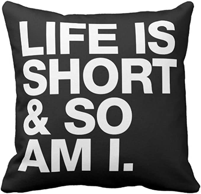 Emvency Throw Pillow Cover Black and