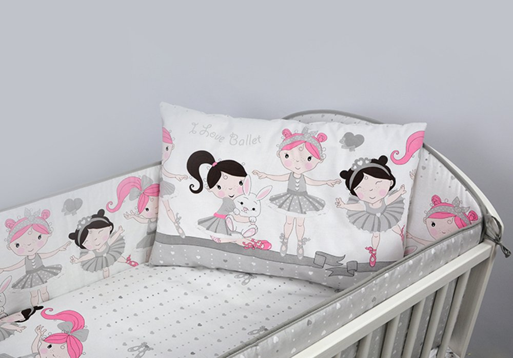 3 Pcs Nursery Bedding Set , All-round Bumper (Fits Cot Bed 140x70 cm, Pattern 14 BabyComfort