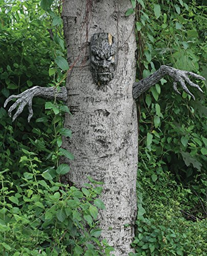 UHC Spooky Living Tree Haunted House Horror Party Halloween Yard Decoration