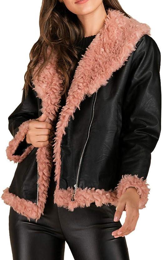 Deman outfit-Artistic9 – Chaqueta de piel para mujer con pelo de ...