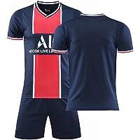 ZYYQSL Camiseta de fútbol para Hombre 2021 Paris Home Camiseta de fútbol # 7 Mbappé # 10 Neymar Kits de Camiseta y…